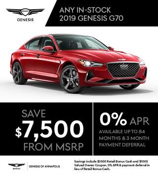 Financing Offer : 0.0% APR for 84 months on select Genesis G70 models
