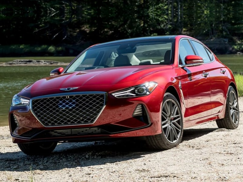 2020 Genesis G70 exterior red color