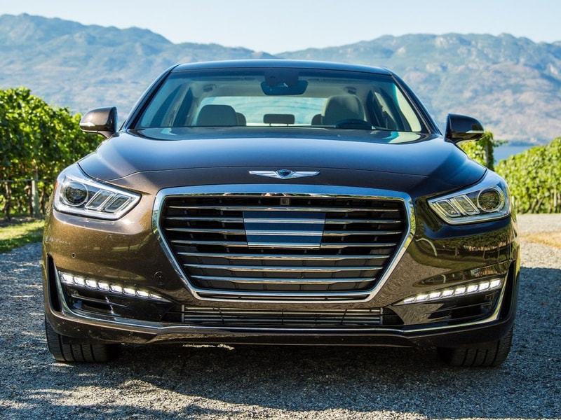 2019 Genesis G90 exterior golden brown color