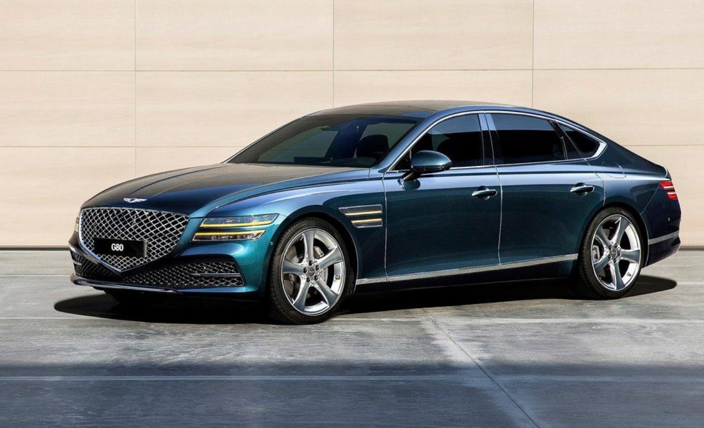 All-new 2021 Genesis GV80 sedan with redesigned exterior appearance
