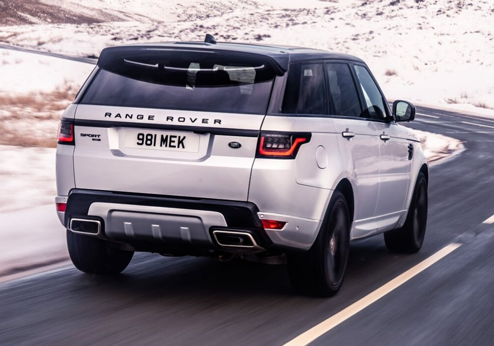 2020 Range Rover Sport rear exterior design view in-motion