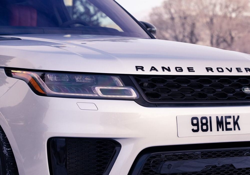 Front exterior grille on the 2020 Range Rover Sport