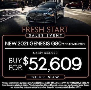New 2021 Genesis GV80 3.5T Advanced Models