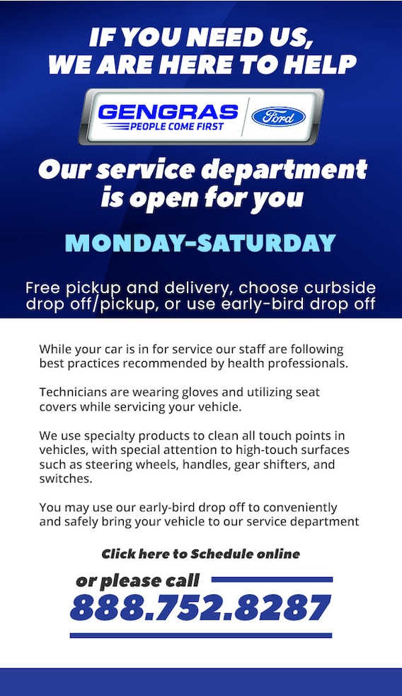 Ford Service Is Open In Plainville Gengras Ford
