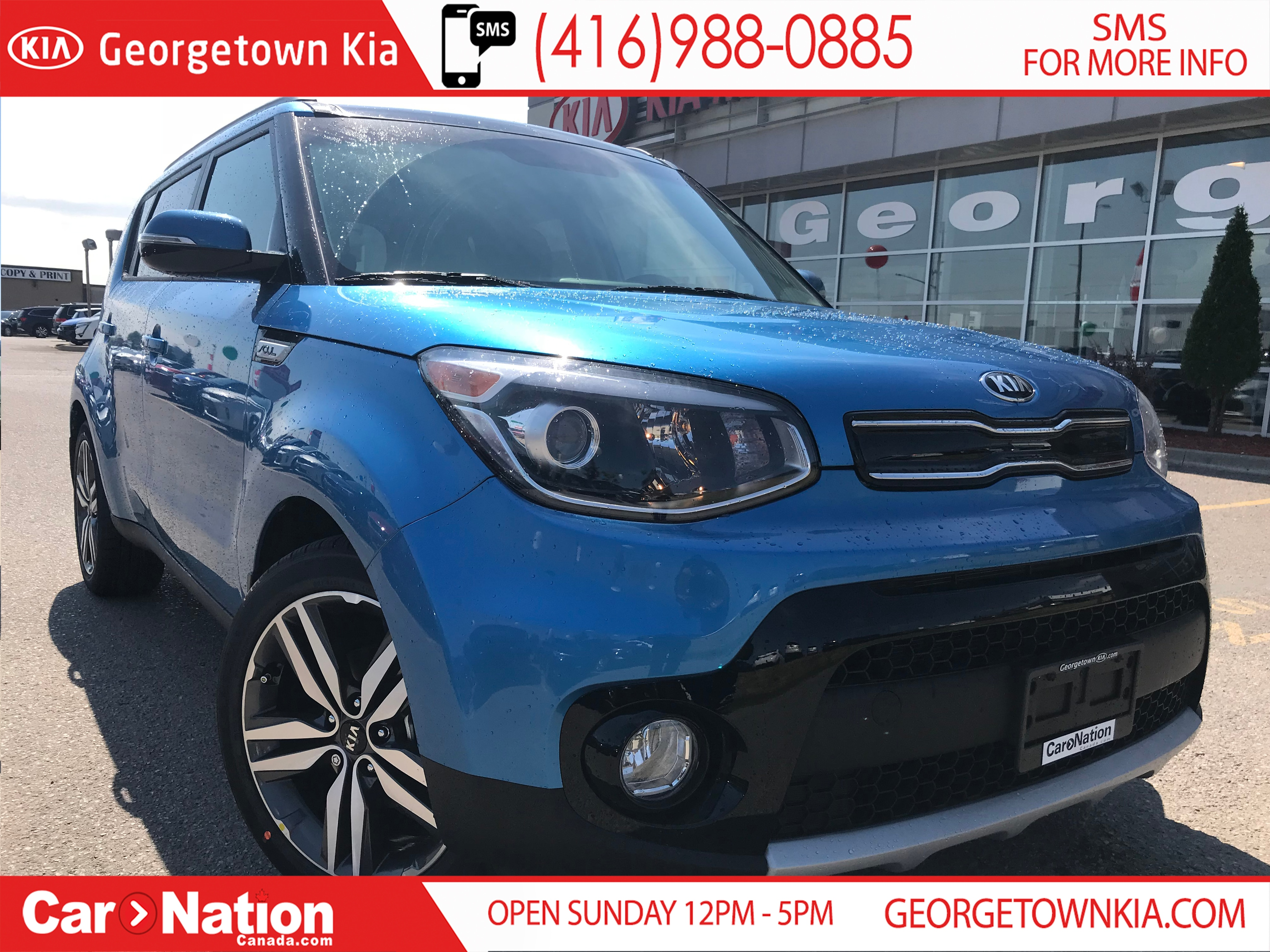 New Caribbean Blue 2019 Kia Soul For Sale | Georgetown KiaSO19003