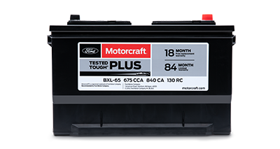MOTORCRAFT® TESTED TOUGH® PLUS BATTERIES, $104.95 MSRP*