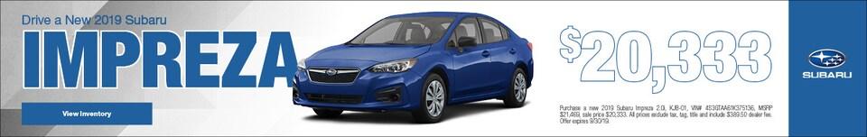 Drive a New 2019 Subaru Impreza