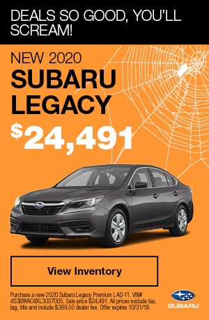 October New 2020 Subaru Legacy Offer
