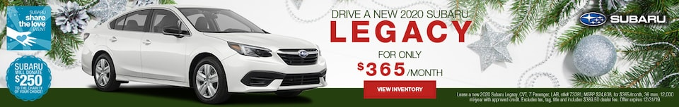 December NEW 2020 SUBARU LEGACY Lease Offer