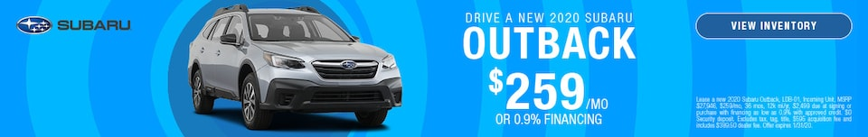 January DRIVE A NEW 2020 SUBARU OUTBACK Offer