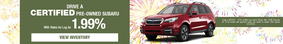 May - Drive a Certified Pre-Owned Subaru