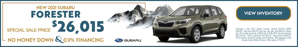 JANUARY NEW 2021 SUBARU FORESTER OFFER