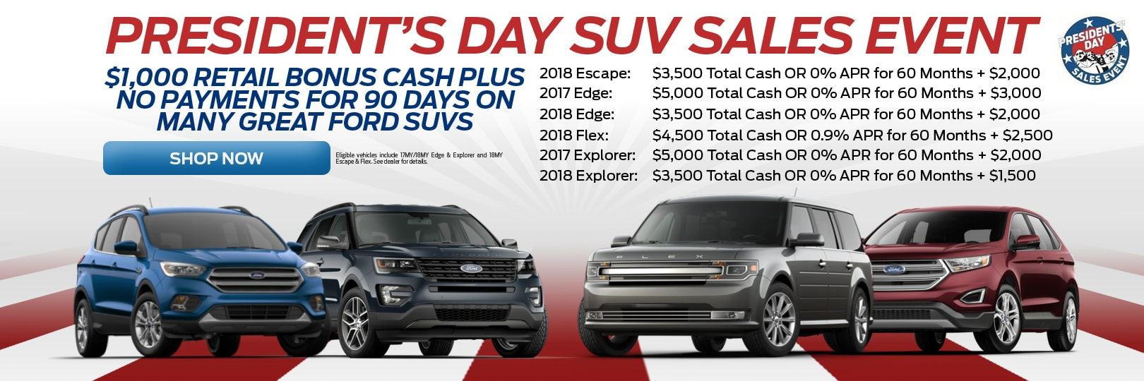 Ford Edge Presidents Day Specials