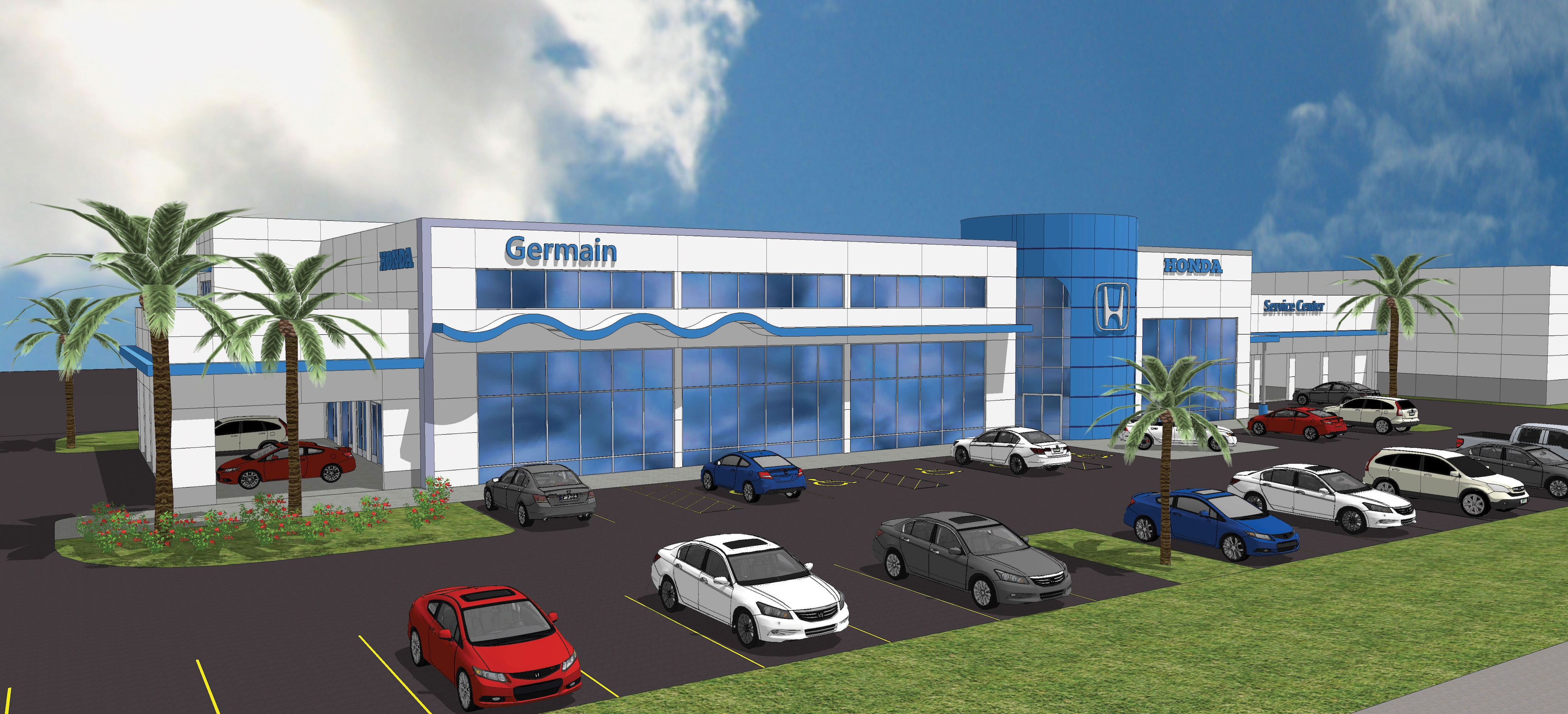 Car Dealerships Naples Fl >> New Car Dealership Construction Updates Germain Honda Of