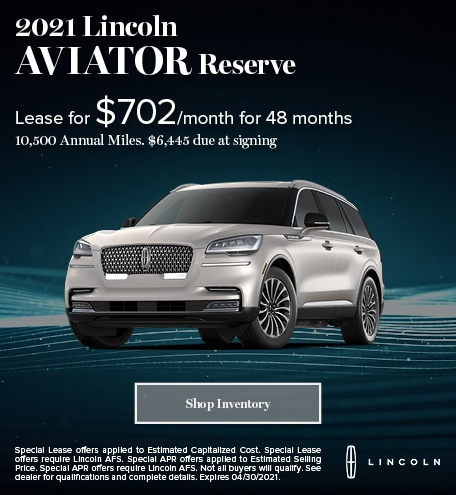 2021 Lincoln Aviator (lease)
