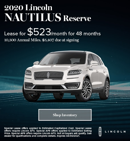 2020 Lincoln Nautilus (lease)
