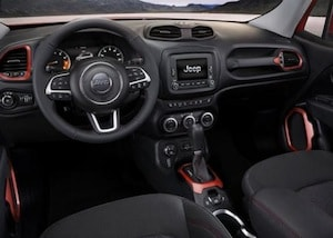 Cabin of the 2017 Jeep Renegade