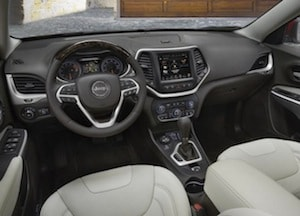 Cabin of the 2017 Jeep Cherokee