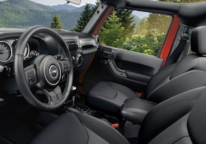 Cabin of the 2017 Jeep Wrangler