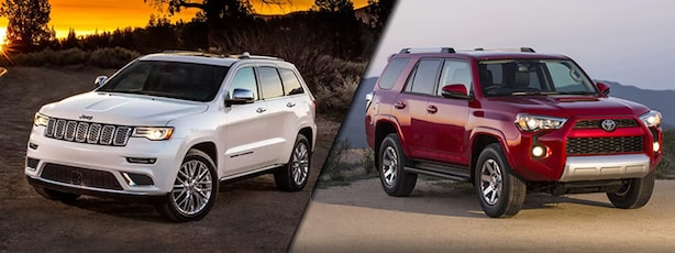 2018 Jeep Grand Cherokee vs Toyota 4Runner