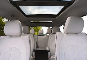 Passenger space in the 2017 Chrysler Pacifica