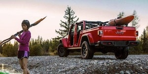 2020 Jeep Gladiator with kayak