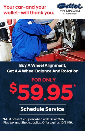 Buy a Wheel Alignment Get a 4 wheel Balance and Rotation