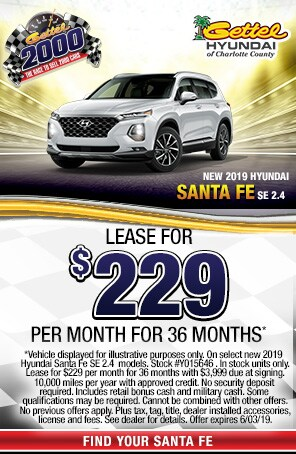 New 2019 Hyundai Santa Fe SE 2.4
