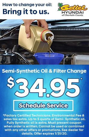 Semi-Synthetic Oil & filter change