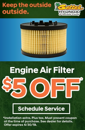 Engine Air Filter Special