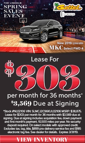New 2019 Lincoln MKC Models