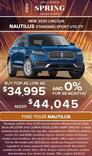 New 2020 Lincoln Nautilus Standard Sport Utility