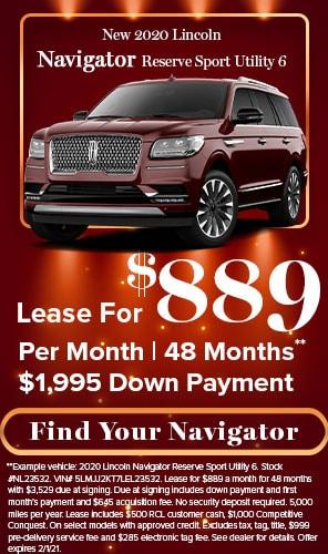 2020 Lincoln Navigator Reserve Sport Utility 6 - Lease