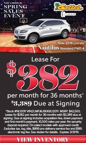 New 2019 Lincoln Nautilus Models
