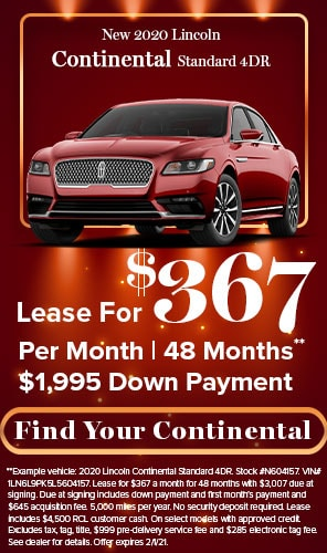 New 2020 Lincoln Continental Standard 4DR - Lease