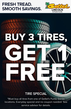 Buy 3 Tires Get 4th for Free