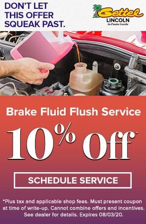 Brake Fluid Flush Service Special