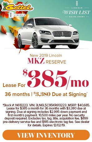 New 2019 Lincoln MKZ Lease