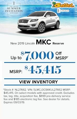 New 2019 Lincoln MKC Reserve