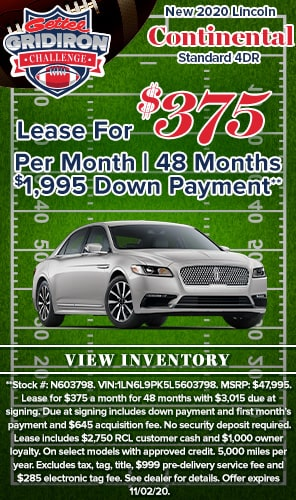 New 2020 Lincoln Continental Standard 4DR Lease