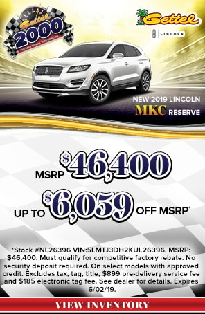 New 2019 Lincoln MKC Models