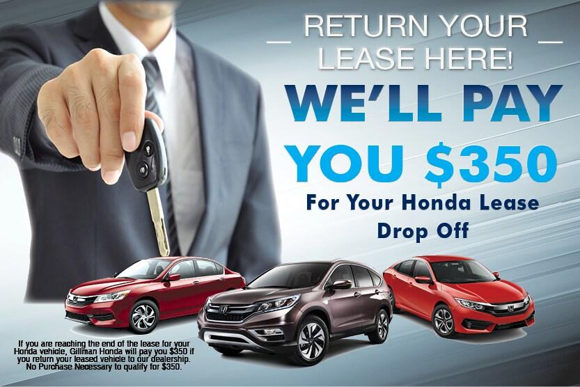 Honda Lease Return Near San Antonio, TX. Honda Lease Return Promotion. Gillman  Honda San Antonio ...