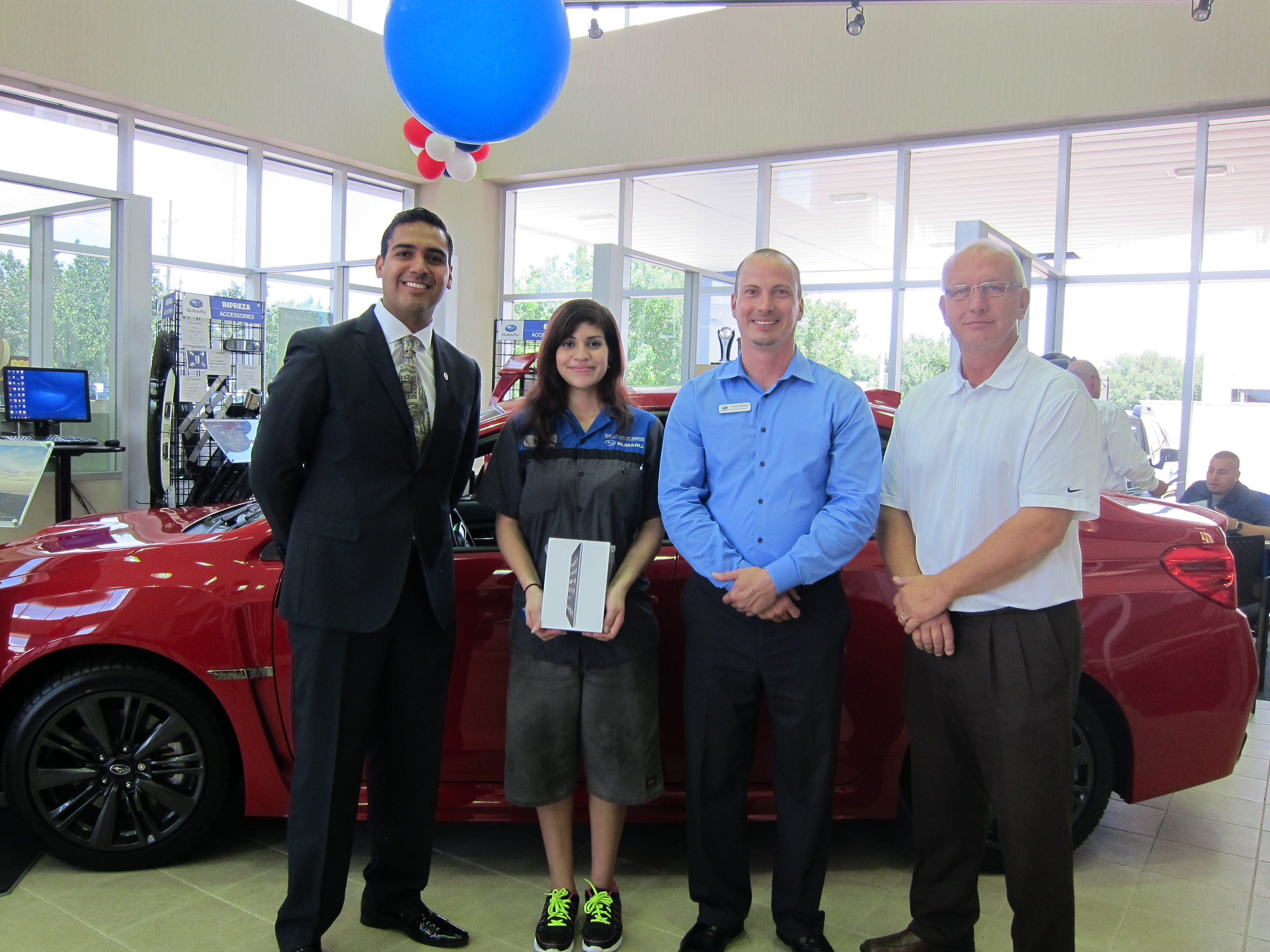 gillman automotive group qmr of the month award presented to