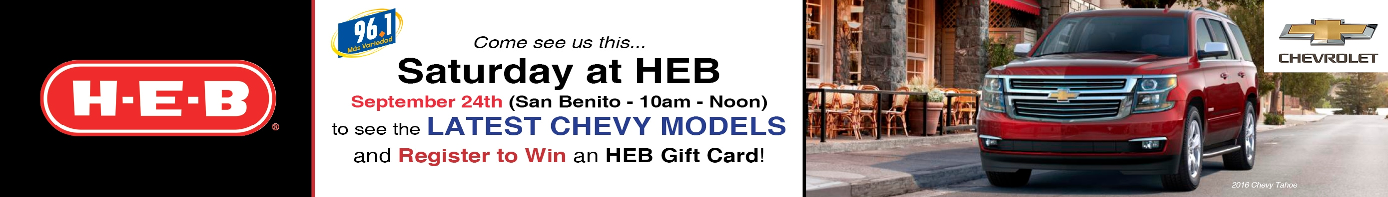 Good Gillman Chevrolet Harlingen Is Bringing The Latest Models To You! This  Saturday, September 24th, Some Of Our New Models Will Be At The H E B In San  Benito.