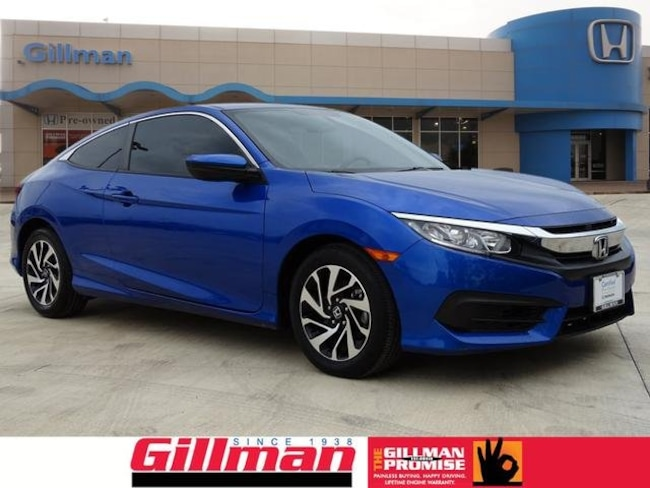 Certified Pre-Owned 2016 Honda Civic LX-P Coupe in San Antonio