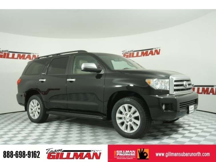 Used 2015 Toyota Sequoia Platinum Leather Interior Sunroof TV/DVD SUV S190514A Houston