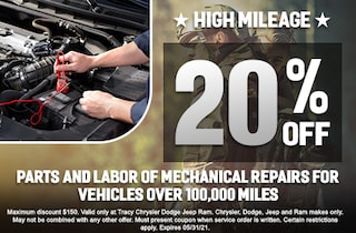 High Mileage Parts and labor of mechanical repairs for vehicles