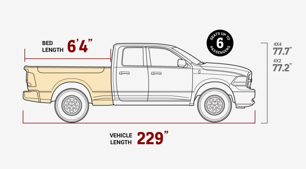2017 Dodge Ram Truck Bed Dimensions