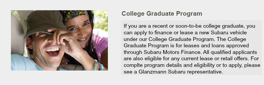 Glanzmann Subaru New Subaru Dealership In Jenkintown PA - Subaru graduate program
