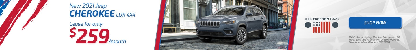New 2021 Jeep Cherokee LUX 4x4 | May Offer